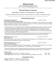 Fund Accountant Resume Equity Trader Resume A Facebook Post Commodities Trader Resume