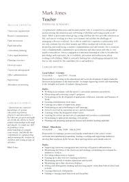 teachers resume format word best teacher templates images on