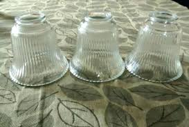 glass globes for ceiling fans replacement light shades for ceiling fans set 3 clear fluted glass