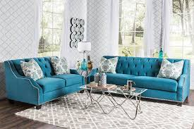 Teal Tufted Sofa by Furniture Teal Color Retro Tufted Couches With Glass Table