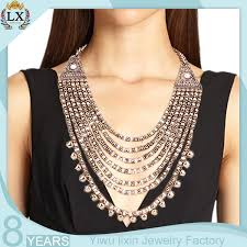 long gold beads necklace images Nlx 00221 chunky statement 7 layer bead necklace clasp ancient jpg