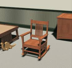 Craftsman Furniture Plans Mission Style Children U0027s Rocking Chair Furniture Plans Chairs