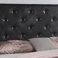 Black Leather Platform Bed Homelife 51 Black Leather Headboard Platform