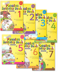 jolly phonics activity books set of books 1 7 in print letters
