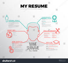 Resume Template Graphic Designer Original Minimalist Cv Resume Template Creative Stock Vector