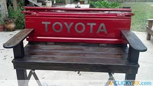 Bench Made From Tailgate Tailgate Bench Made With Tailgate And Front Bumper From A 1954