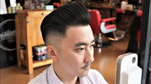 stiff asian hair zero fade pompadour hair cut how to do a basic