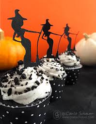 halloween witch cupcake toppers carla schauer designs