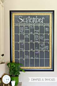 Chalkboard Ideas For Kitchen by Dimples And Tangles Diy Oversized Chalkboard Calendar