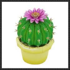 papercraft ornamental plant notocactus uebelmannianus cactus