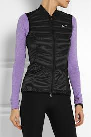 north face lixus jacket nike aeroloft 800 quilted shell down vest in black lyst