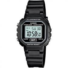 Jam Tangan Casio Diameter Kecil harga casio la20wh 1a wanita rubber karet hitam diameter