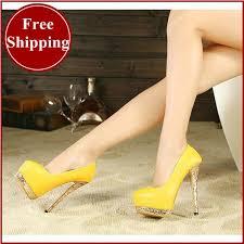 wedding shoes bottoms 2014 brand women wedding shoes yellow bottoms platform wedge high