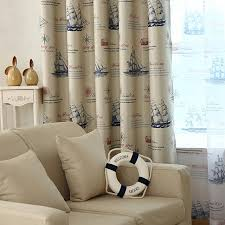 vintage bedroom curtains ready made nautical style vintage print ship pattern curtains and