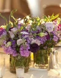 Purple Flowers Centerpieces by Simple Potted Plant Centerpieces Wedding Decor Pinterest