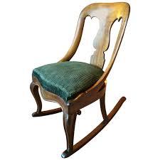 Western Rocking Chair Antique Victorian Rocking Chair Mahogany 19th Century Rocker