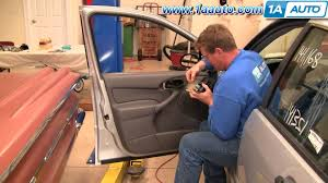 how to install replace remove front door panel ford focus 00 05