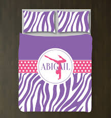 girls purple bedding zebra print gymnastics bedding girls duvet cover u2013 shop wunderkinds