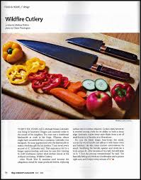media stories about the carbon steel kitchen knives made by