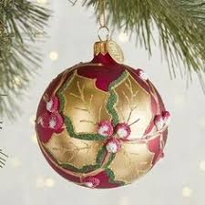Pier One Christmas Ornaments - 40ct fashion red green gold shatterproof christmas ornament set