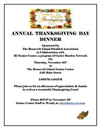 free thanksgiving feast for seniors and disabled on roosevelt