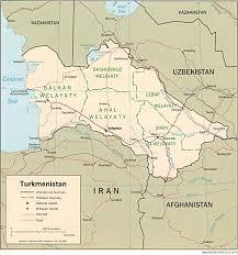 Turkestan Map Turkmenistan