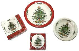 spode tree paper plates and napkins bundle