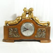 Forestville Mantel Clock Vintage Sessions Mantel Clock Dutch U0026 Boy Kissing Electric