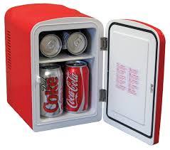 coca cola compact 6 can portable fridge mini electric cooler 110