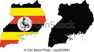 uganda map vector vector map and flag of uganda with white background vector clip