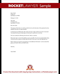 letter complaint recommendation landlord tenant certified format