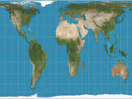 World Map Image by The Gall Peters Map Is Just As Distorted As The Mercator