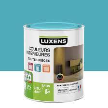 peinture chambre leroy merlin peinture bleu atoll 4 satin luxens couleurs intérieures satin 0 5 l