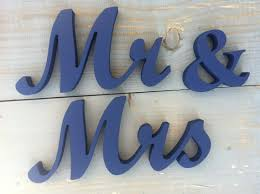 mr mrs sign for wedding table navy blue mr mrs sweetheart table wedding sign unpainted mr mrs