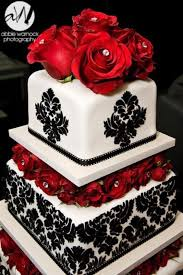 17 black red and white wedding cakes to drool over wedding cakes