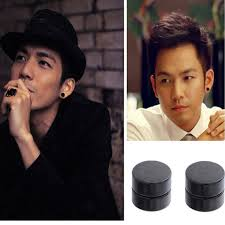 black stud earrings mens 1pair men magnet stud earrings non piercing clip on earring