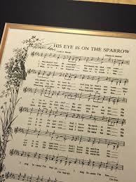 his eye is on the sparrow hymn hymn custom christian