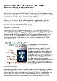 hammer of thor asli italy menyadari ciri ciri agen berkualiatas