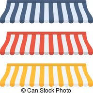Red And White Striped Awning Vector Illustration Of White Striped Awnings Detailed