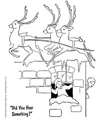 santa u0027s reindeer coloring pages santa u0027s reindeer roof