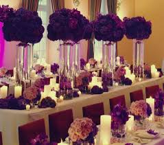 Centerpieces For Wedding Amazing Plum And Silver Wedding Decorations 18 In Table