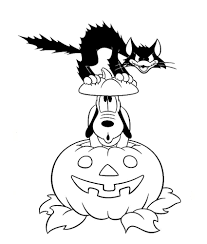 print pluto pumpkin black cat disney halloween coloring pages or