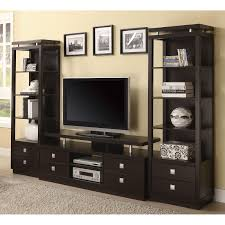 Lcd Tv Wall Mount Cabinet Design Coaster Furniture Dark Brown Tv Console With Floating Top Shelf