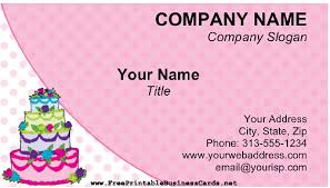 Card For Business Cards Cake Business Card