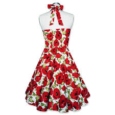 vintage christmas cocktail party pin up dress christmas dress floral dress red poppy flower dress
