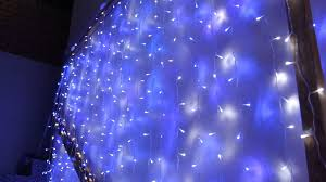 wedding backdrop blue 576 led blue and white wedding curtain backdrop lights with open