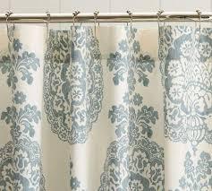 Blue Damask Shower Curtain Medallion Shower Curtain Pottery Barn