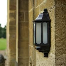 dusk to dawn coach lights asd hi lo coach led half lantern outdoor wall light with pir sensor