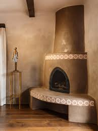 kiva fireplace james pearson artist american clay plaster