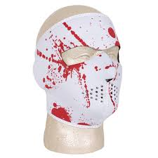 blood splatter neoprene full face halloween costume winter thermal
